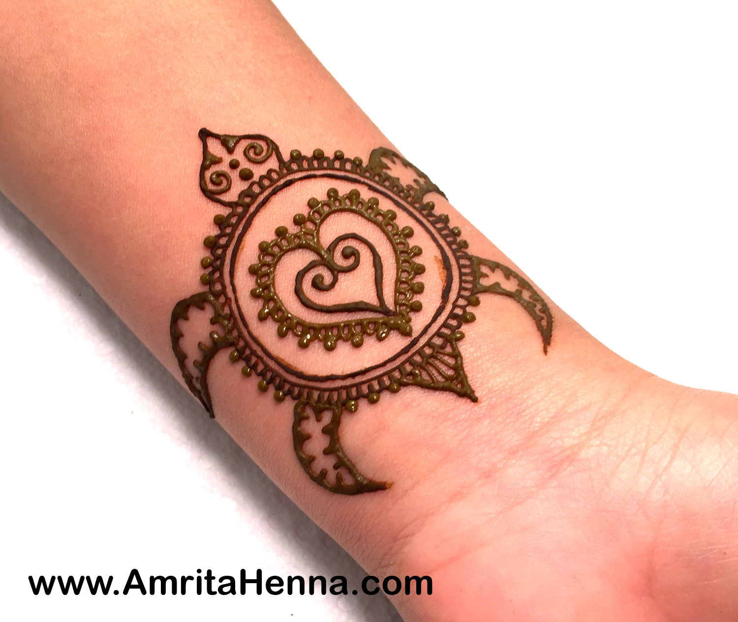 Easy Henna Turtle Design