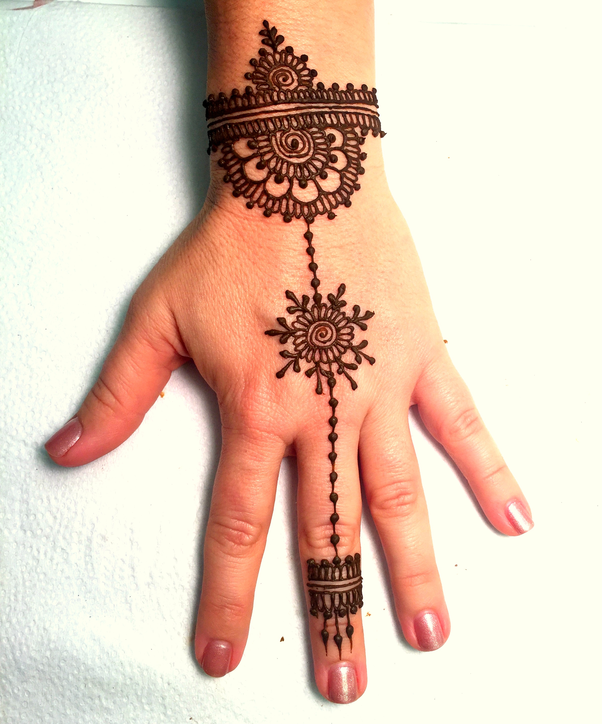 Best jewelry style henna designs for beginners - Latest Jewelry Style Mehndi Designs Pictures for Beginners - Very easy and beautiful Line Design Jewelry Style Henna