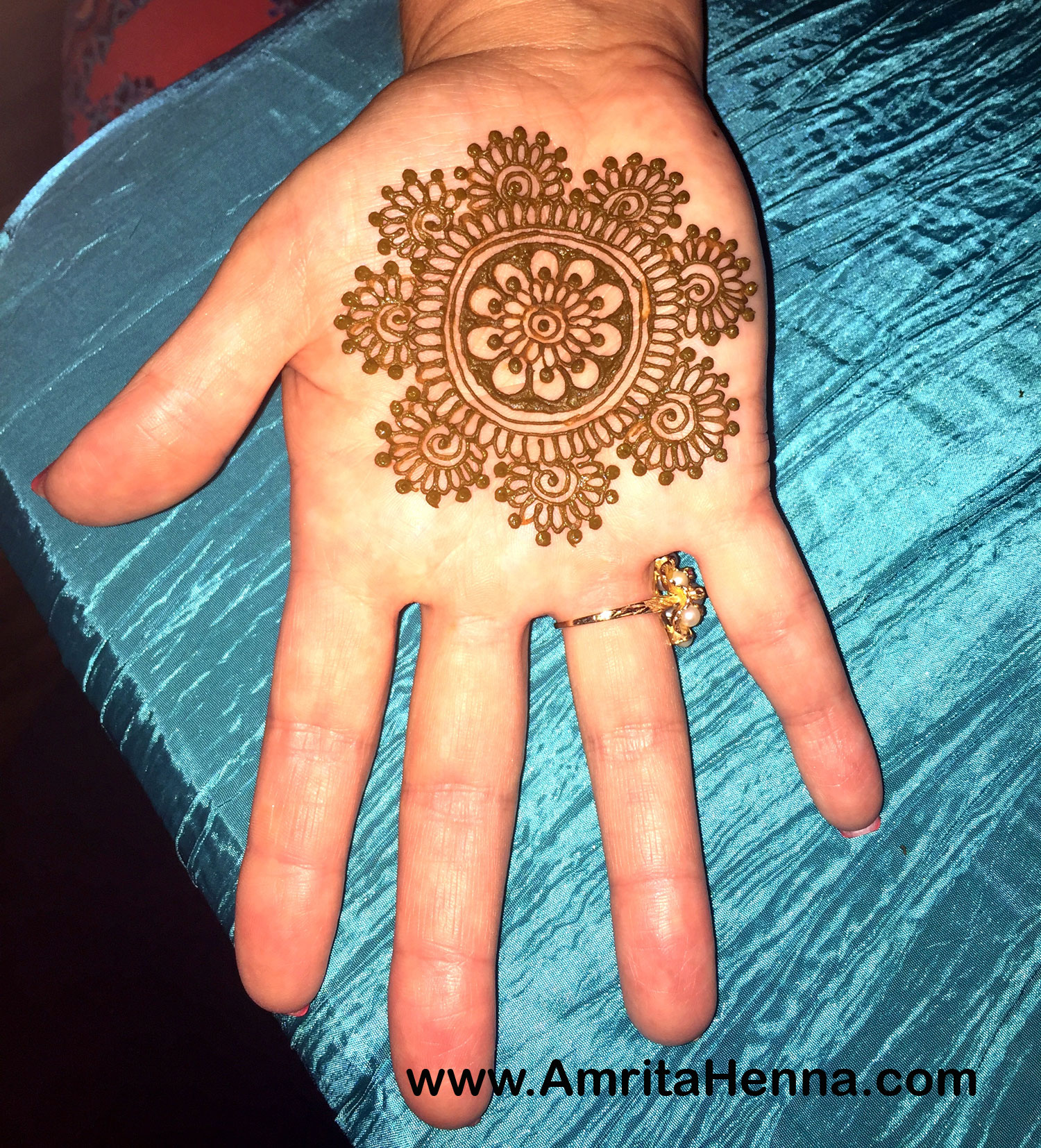 Circle mehndi designs – RoundMandala henna designs for hands photo