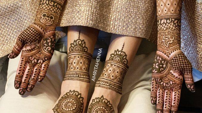 dulhan mehndi design bridal